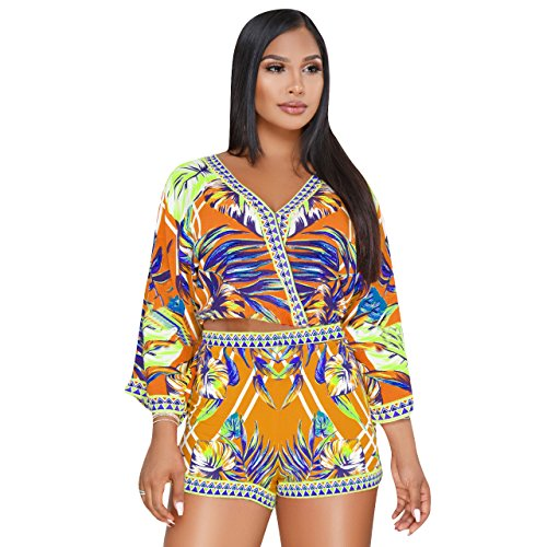 Cotton Two Piece Romper - MENCCINO Women 2 Piece Outfits African Jumpsuits Sexy Rompers Summer Shorts Set Beachwear Yellow