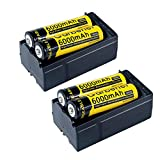 4PC 3.7v 6000mAh 18650 Li-ion Rechargeable Battery + 2x Smart Dual Charger for LED Flashlight Torch Lighting Hand Tools Travel Video Digital Camera Charger