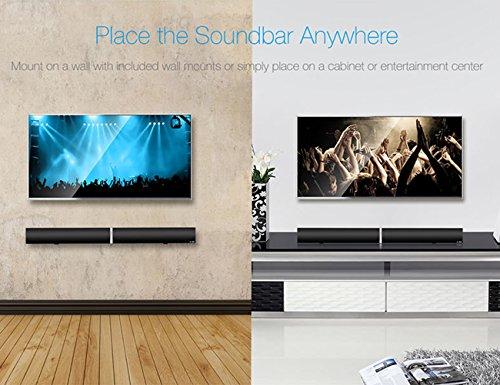LuguLake T180 TV Sound Bar Bluetooth Speaker 3D Surround For Home