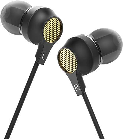 HIFI WALKER Auricolari con Filo Mini In Ear con Telecomando Smart One Button, Nero G