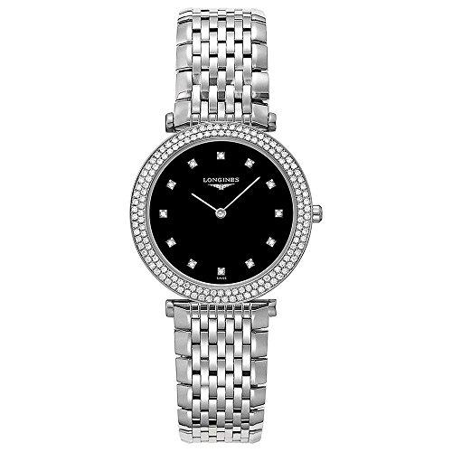 Longines La Grande Classiqe - L4.515.0.58.6 - Black Diamond Dial Diamond Bezel Quartz Women's