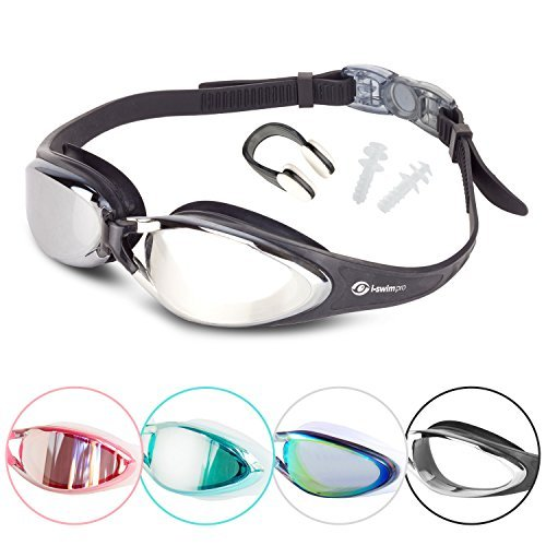 i-Sports Pro Anti-Fog, UV Protected Swim Goggle, Black (Goggles Swimmers)