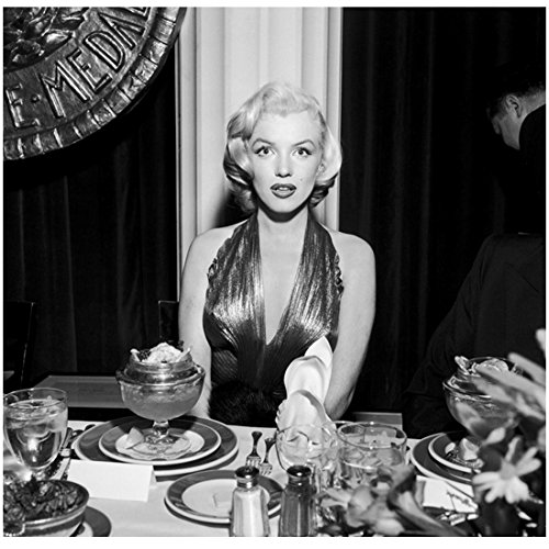 Marilyn Monroe Ready to Dine Looking Surprised at Table 8 x 10 Inch Photo