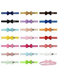 20Pcs Baby Girls Headbands Hair Bow Elastic Headbands for Newborn and Baby Girls