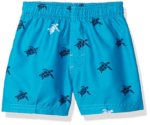 Kanu Surf Baby Boys Terrapin Turtle Quick Dry Beach Board Shorts Swim Trunk, Aqua, 12 Months