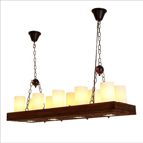WENYAO Art Deco Luz Colgante Lámparas Vintage Loft Lámpara ...