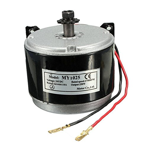 TOOGOO(R) 24V Electric Motor Brushed 250W 2750RPM Chain For E Scooter Drive Speed Control