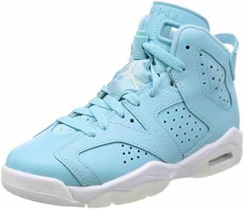 the latest b40ba abbe8 Jordan Kids  Nike Air 6 Retro Bg White Mango Green 384665-114