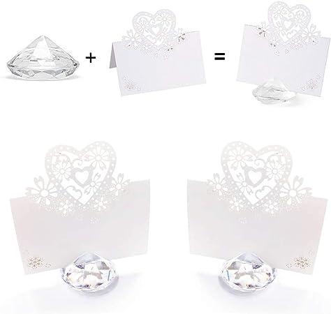Amazon Segnaposto Matrimonio.Anyasen Segnaposto Diamante Segnaposti Kit Matrimonio Posto