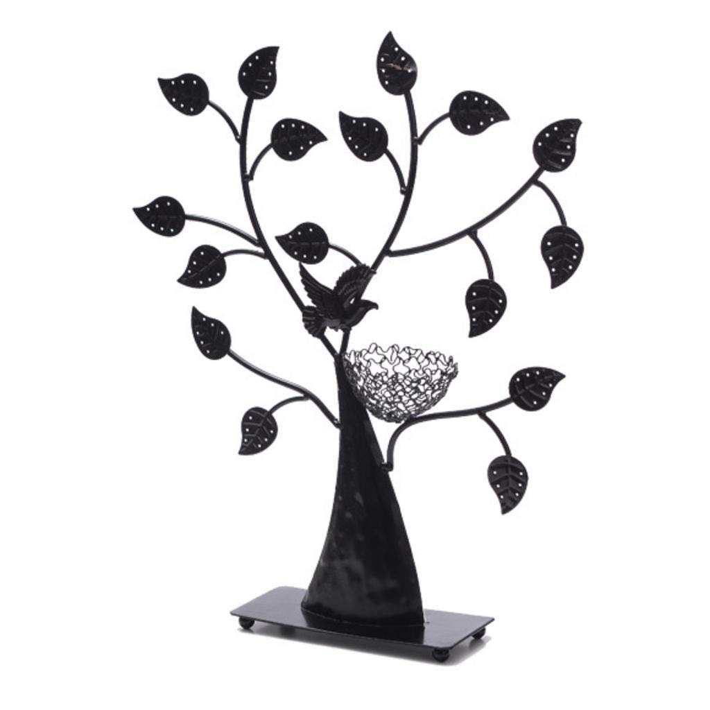 ROBAG Jewelry Tree Stand Organizer, Wrought Iron Jewelry Display Stand for Earrings, Bracelets, Necklaces