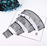 10 PCS 40 Teeth/15cm Long Hair Clip Combs Metal