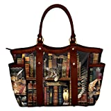 Charles Wysocki Classic Cat Tails Women's Polyester Tote Bag Faux Leather Trim by The Bradford Exchange