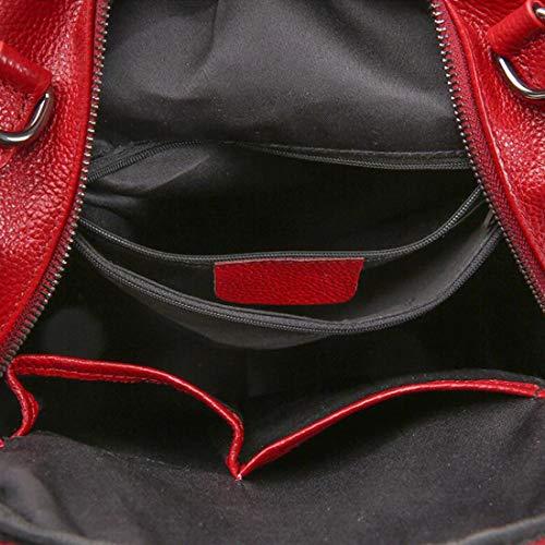 tracolla Women antifurto in Rosso a Borsa Zaino Colore pelle scuola Zaino impermeabile CarryeyukiCarrie Borsa leggero Blu SBaxqHH