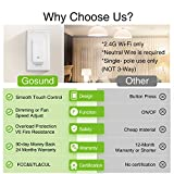 Gosund Smart Dimmer Switch, Smart WiFi Light Switch Dimmable Works with Alexa, Google Home, Remote Control & Timer, Fan Speed Control, Single-Pole,Neutral Wire Required, No Hub Required