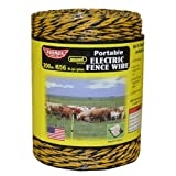 Baygard 00121 Electric Fence Yellow/Black Wire - 656 -Feet