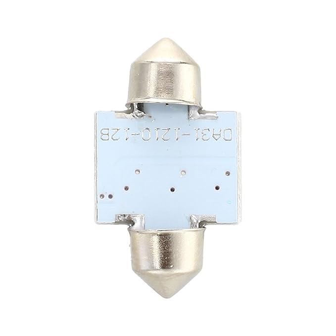 Moligh doll 10 x Blanco 12 SMD LED Bombilla Luz de cupula Interior de feston 31mm