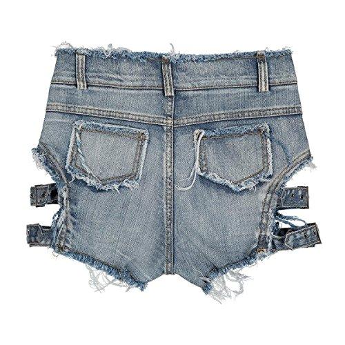 Ruanyi Discoteca Foro Da Lettere Notte Bicchierini Le In Denim Mini Per Estiva Alta Sottile Shorts Black Vita Signore Jeans 0Ywrfq0O
