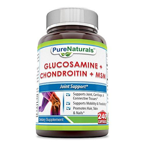 Pure Naturals Glucosamin, Chondroitin and MSN Capsules, 2...