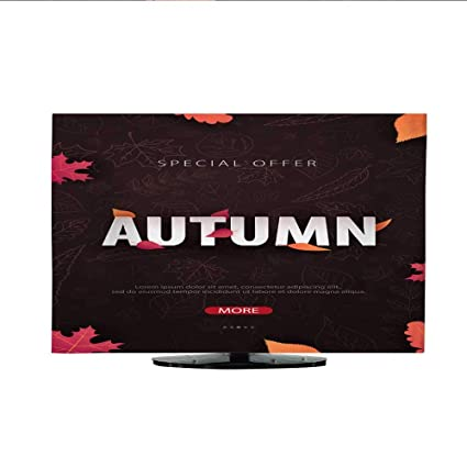 Amazon Television Dustproof Cover Autumn Background With Leaves
