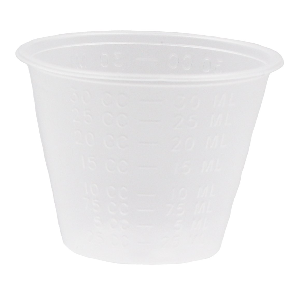 Healthstar Non-Sterile Graduated 1oz Clear Plastic Medicine Cups with Measurement Markings (100 Count)