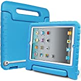 iPad 2 Case/iPad 3 Case/iPad 4 Case, SIMPLEWAY Lightweight Shockproof Convertible Protective Carrying Handle Stand Kids for Apple iPad 2, iPad 3rd generation, iPad 4th generation Tablet, Blue
