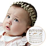 Stretchy Headband Big Lace Petals Flower Baby Newborn Hair Accessories 6 Pack