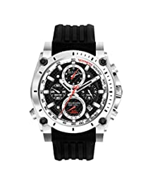 Bulova Men's 98G172 Precisionist Analog-Quartz Black Watch