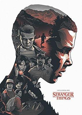 MOTIVATION4U Stranger Things, an American science fiction-horror web television series Joyce Byers, Jim Hopper, Mike Wheeler, Eleven 12 X 18 inch poster