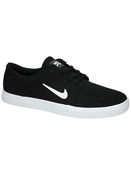 Amazon.com | Nike SB Portmore Vapor Mens Trainers 855973 Sneakers Shoes (US 11.5, Black White 010) | Fashion Sneakers