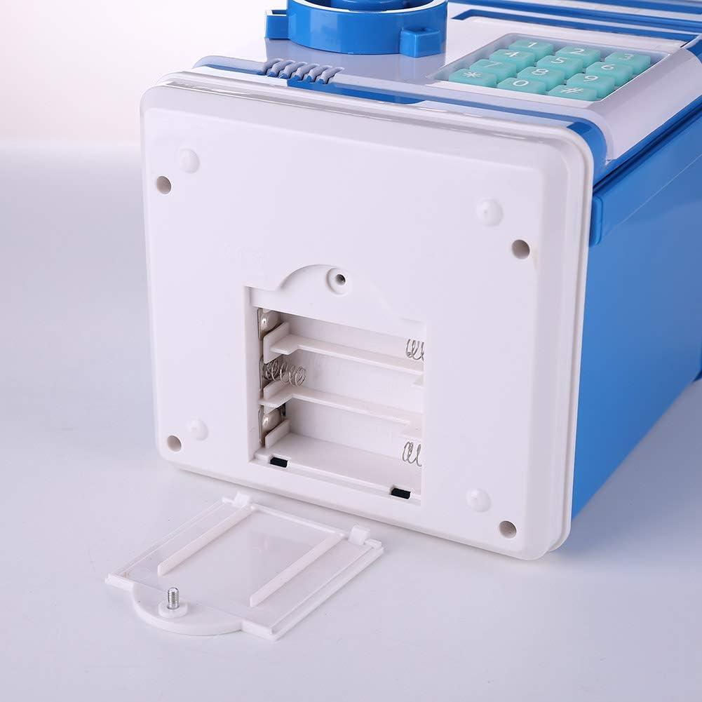 blau InnerSetting Spardose Kinder,Elektronische Spardose Geldautomat f/ür Kinder automatische M/ünze Prompt