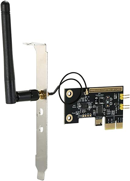 Owsoo Pc Fernbedienung Switch Karte Ewelink Mini Pci E Desktop Wifi Smart Switch Relaismodul Wireless Neustart Ein Ausschalten Computer Boot Karte Mit Externer Antenne Und 2 Fester StÜcke Platte Baumarkt