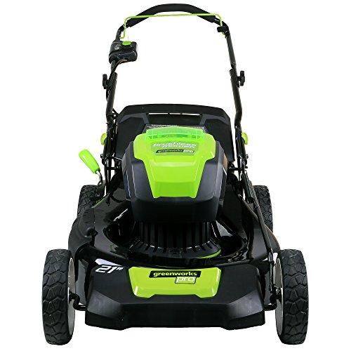 Greenworks PRO 21-Inch 80V Cordless Lawn Mower, Two 2.0AH Batteries Included GLM801601