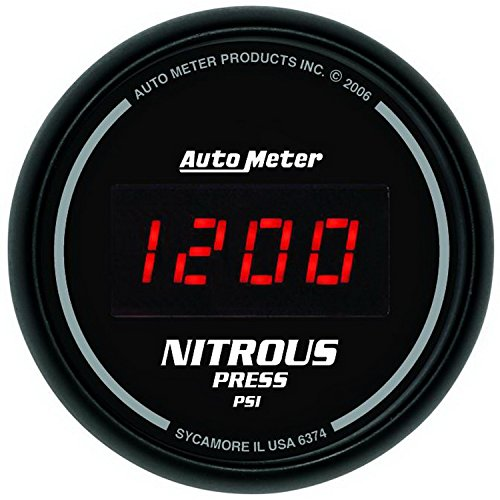 Auto Meter 6374 Sport Comp Digital 2-1/16'' 0-2000 PSI Digital Nitrous Pressure Gauge by Auto Meter