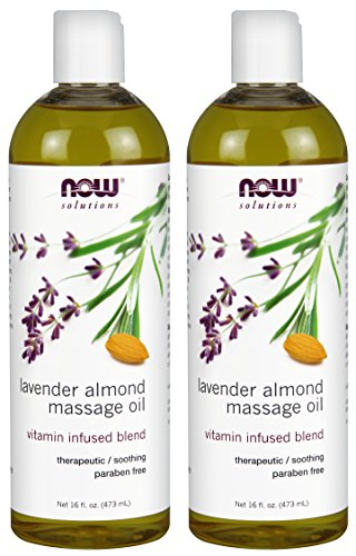 NOW Solutions Lavender Almond Massage Oil, 2 Count