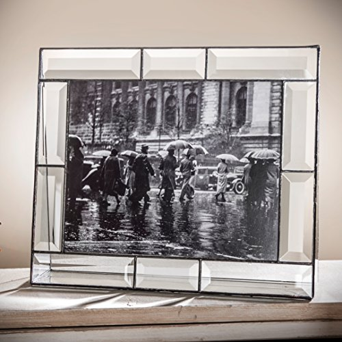 Photo Glass Picture Frame (J Devlin Pic 112-81H 8x10 Crystal Glass Picture Frame Beveled Glass Horizontal Photo for Wedding, Graduation, or Family Picture Frame)