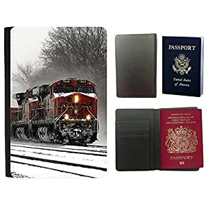 Passeport Voyage Couverture Protector // F00001385 Invierno en el hipódromo // Universal passport leather cover