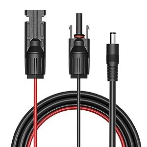 DC-MC4変換ケーブル  GIARIDE 1.5m(16AWG) 5.5mm