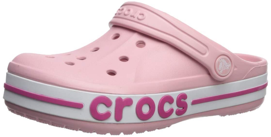 Crocs Kids Bayaband Clog, Petal Pink 8 M US Toddler