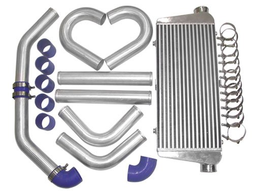 31x12x3 inch Universal Turbo FMIC Intercooler + 3 inch Piping Kit For Toyota Supra MKIII MK3 7MGTE