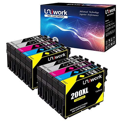 - Uniwork Remanufactured Ink Cartridge Replacement for Epson 200 200XL for WF-2540 WF-2530 WF-2520 XP-410 XP-400 XP-200 Printer (10 Pack)