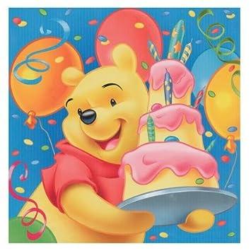 Winnie The Pooh Geburtstag Servietten 2 Lagig 20 Stuck Amazon De