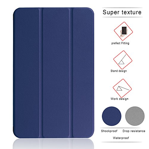 LG G Pad F 8.0 / G Pad II 8.0 Cover Case - Slim Lightweight Standing Custom Fit Cover Case [Fit (V495 /V496) & G Pad 2 8.0 V498] 8-Inch Tablet (deep blue) (Lg 2 Repair Screen Kit compare prices)