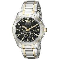 Citizen Men's AG8304-51E Analog Display Japanese Quartz Two Tone Watch