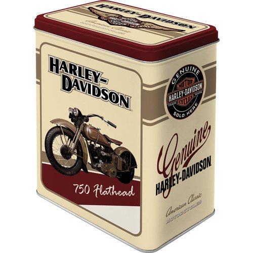 Nostalgic Art - Harley Davidson - 750 Flathead Square Storage Tin by Nostalgic-Art