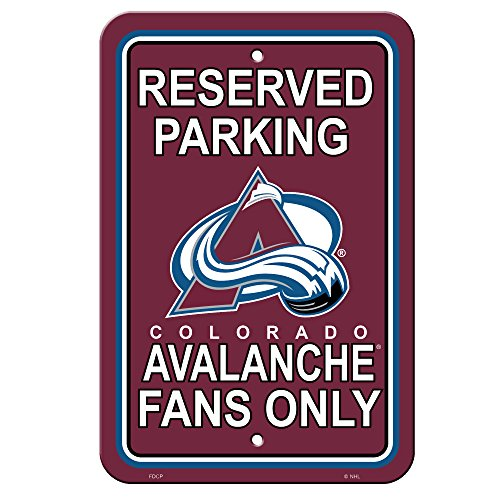 NHL Colorado Avalanche Reserved Parking Sign, 12