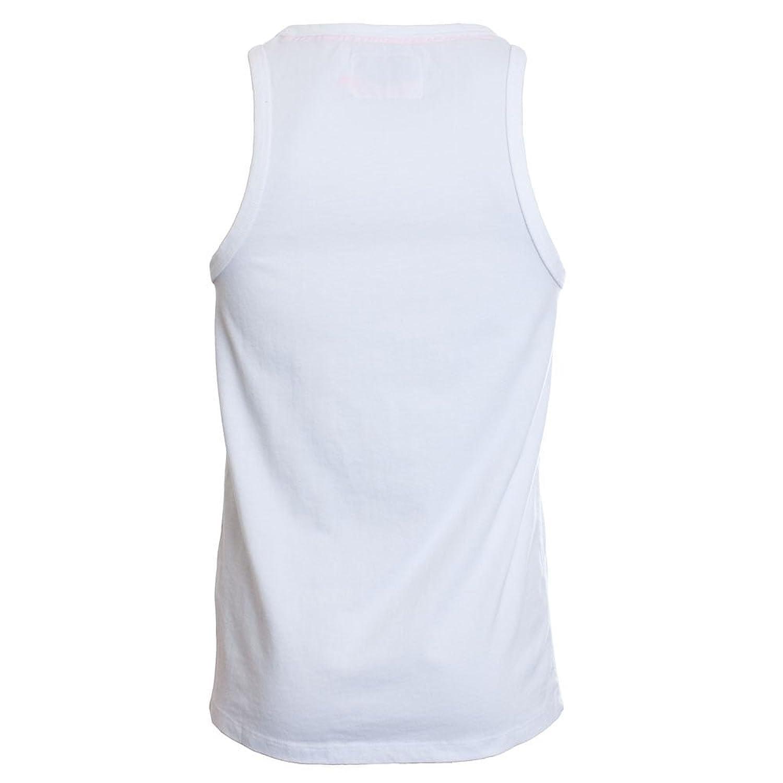 Superdry Orange Label Vintage Embroidery Vest Optic White: Amazon.co.uk:  Clothing