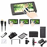 Sokani SK-5 Kit 5 inch 4K Signal Support & Touch Screen 1920 x 1080 HDMI On-Camera LCD Field Camera Video Monitor w/ battery accessories for Sony Panasonic Canon Nikon Fujifilm DJI Ronin Zhiyun Crane