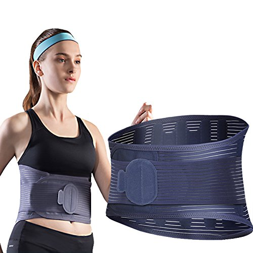 Tcare Lower Back Brace Support Pain Relief Belt – Protects & Relieves Back Pain Stabilizing Lumbar with Breathable Mesh Panels - Waist Support Brace Belt for Men Women (M)