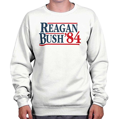 Brisco Brands Ronald Reagan George Bush 84 Election POTUS Crewneck ()