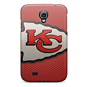 Scratch Resistant Hard Phone Cover For Samsung Galaxy S4 With Support Your Personal Customized Realistic Kansas City Chiefs Series JasonPelletier